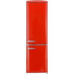 exquisit Kühl-/Gefrierkombination RKGC250-70-H-160E rot, 181 cm hoch, 55 cm breit rot