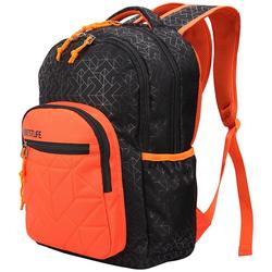 BESTLIFE Rucksack JUST schwarz/orange mit Laptopfach bis 15,6 Zoll