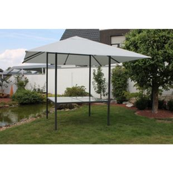 Leco Diningpavillon 3x3m Pavillon + Esstisch Festzelt Gartenzelt Gartentisch