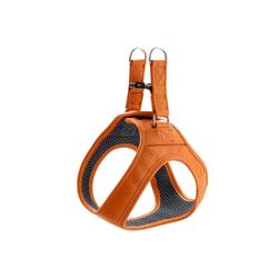 Hunter Hunde-Geschirr Hilo, Leder orange 37 cm - 40 cm