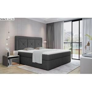 Boxspringbett mit 2 Bettkasten INES 180x200 weiß beige grau schwarz Auswahl