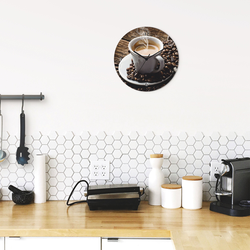 Wanduhr »Heißer Kaffee - dampfender Kaffee«, Wanduhren, 55987525-0 braun braun