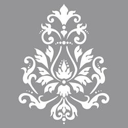 Rayher Dekor-Schablone Brokat grau