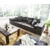 DeLife DELIFE Big-Sofa Marbeya, Anthrazit 285x115 cm Antik Optik inklusive Hocker Big Sofa grau 285 cm x 54 cm x 115 cm