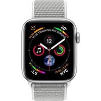 Apple Watch Series 4 (GPS + Cellular) 40mm Aluminiumgehäuse silber mit Loop Sportarmband muschel