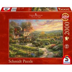 Schmidt Spiele Puzzle In den Weinbergen, 2000 Puzzleteile, Thomas Kinkade