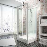 Schulte Komplettdusche Juist II, BxT: 800x800 cm, Einscheibensicherheitsglas, 8-tlg., BxT: 800 x 800 mm