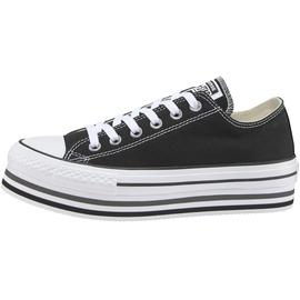 Converse Chuck Taylor All Star Platform Low Top black/white/thunder 39