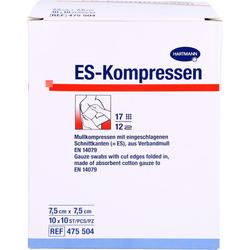 ES-KOMPRESSEN steril 7,5x7,5 cm 100 St.
