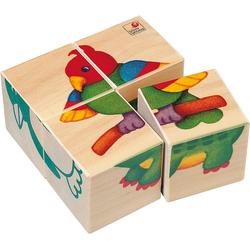 Selecta Würfelpuzzle Bilderwürfel Zookinder Würfelpuzzle, Puzzleteile