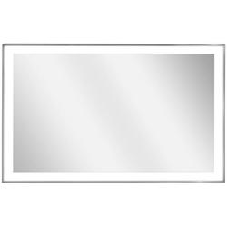 Infrarotheizung Zipris S LED 500, 500 W, Spiegelheizung mit Titan-Rahmen und Licht grau