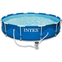 Intex Metal Frame Pool Set 366 x 76 cm inkl. Filterpumpe