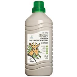 Giraffe Sensitiv Colorwaschmittel, Farb- und duftstofffreies Flüssigwaschmittel, 1 Liter - Flasche, ca. 15 Waschladungen