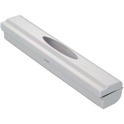 WENKO Folienspender Perfect-Cutter, mit Sichtfenster grau