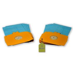 eVendix Staubsaugerbeutel Staubsaugerbeutel passend für Electrolux D 735 - 736, 10 Staubbeutel ähnlich wie Original Electrolux Staubsaugerbeutel 113466, E 6, passend für Electrolux