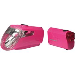 Trelock Fahrradbeleuchtung LS 360 I-GO ECO rosa