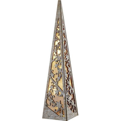 Hellum 522211 Holz-Figur Pyramide LED Holz (gebeizt) Timer
