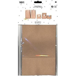 Blockbodenbeutel Kraftpapier Braun, Größe L