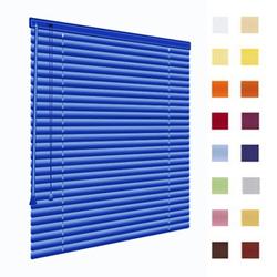 Alu-Jalousien, Jalousien, Horizontaljalousien, Farbe blau, auf Mass gefertigt oder in Standardgroessen, weitere 100 Farben verfuegbar