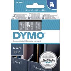 DYMO Schriftband D1 45020 Bandfarbe: Transparent Schriftfarbe:Weiß 12mm 7m