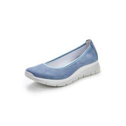 Avena Damen Bequem-Ballerina Softgefühl Blau 36, 37, 38, 39, 40, 41, 42