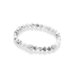 Firetti Armband Mineralstein-Kugeln, mit Kristallsteinen und Howlith