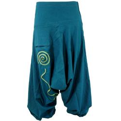 Guru-Shop Relaxhose Goa Pluderhose, Aladinhose - blau blau