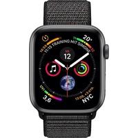 Apple Watch Series 4 (GPS + Cellular) 44mm Aluminiumgehäuse space grau mit Loop Sportarmband schwarz