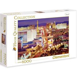 Clementoni® Puzzle Las Vegas, 6000 Puzzleteile