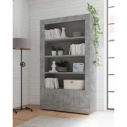 Wohnzimmerregal in Beton Grau 110 cm breit