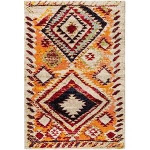 Hochflor Shaggy Teppich Benuta Tika 60005497 mehrfarbig / orange