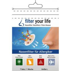 FILTER YOUR LIFE Nasenfilter f.Allergiker Gr.L 14 St.