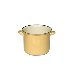 Riess Milchtopf Topf 20 cm mit Chromrand Goldgelb, Email, Topf
