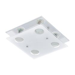 Eglo LED-Deckenleuchte Arborio in chromfarbig, 4-flammig