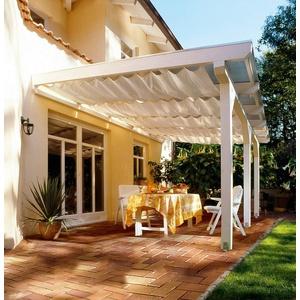 FLORACORD Sonnensegel Bausatz Universal, BxL: 330x140 cm, elfenbein natur