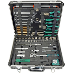 MANNESMANN Werkzeugkoffer 160-tlg. grün