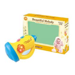 Moni Spielzeug-Musikinstrument Spielzeug Trompete, mit verschiedenen Melodien,Töne und Licht ab 18 Monate