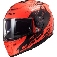 LS2 FF390 Breaker Swat Helm Schwarz, Orange XL
