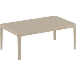 CLP Lounge Tisch SKY I Wetterfester Gartentisch aus UV-beständigem Kunststoff I witterungsbeständiger Tisch... taupe