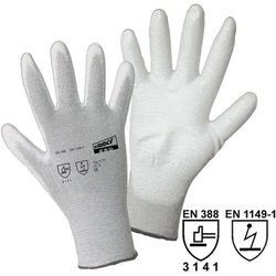 Worky L+D ESD Nylon/Carbon-PU 1171 Nylon Arbeitshandschuh Größe (Handschuhe): 8, M EN 388 , EN 114
