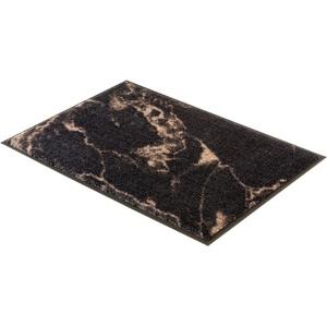Fußmatte Miami 001, SCHÖNER WOHNEN-Kollektion, rechteckig, Höhe 7 mm, waschbar braun 50 cm x 70 cm x 7 mm