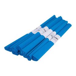 VBS Feinpapier Krepppapier Farbenfroh 50 x 200 cm, 10 Rollen blau