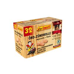 Öko - Zündwolle 32 Stück Naturanzünder 6 cm lang