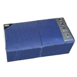 Servietten 33x33cm 3-lagig 1/4-Falz VE=250 Stück dunkelblau