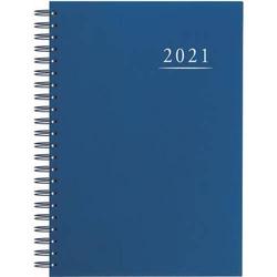 Terminbuch A4 21x29,5cm 1 Tag/1 Seite blau Kalendarium 2021