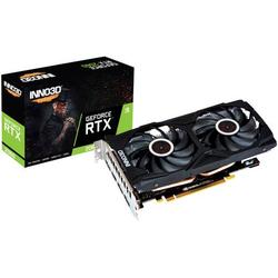 Inno 3D Grafikkarte Nvidia GeForce RTX 2060 Gaming Overclocked X2 6GB GDDR6-RAM PCIe x16 HDMI®, Dis