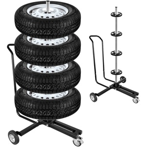 Felgenbaum Alu fahrbar schwarz 225er Reifen 4 Reifen max 100 Kg mit Feststellbremse