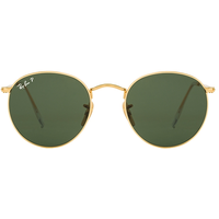 Ray Ban Round Metal RB3447 001/58 50-21 gold/polarized green classic