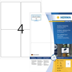 Herma 9539 Etiketten (A4) 99.1 x 139mm Folie, matt Weiß 160 St. Extra stark haftend Folien-Etikette