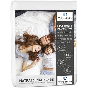 Matratzenauflage MILA 140x200 molton   100% wasserdicht   Matratzenschoner mit Anti-Milben Ausrüstung   Atmungsaktiver und hygienischer Matratzen-Schutz   Auflage mit recycelter Baumwolle 140 x 200 cm